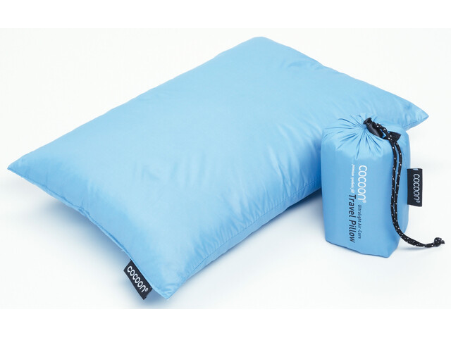 Cocoon Travel Pillow Down Fill 25x35cm, light blue
